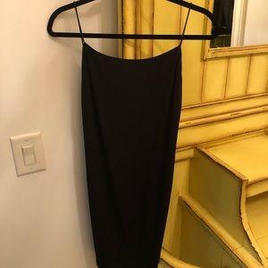 Aqua Open Back Mini Dress